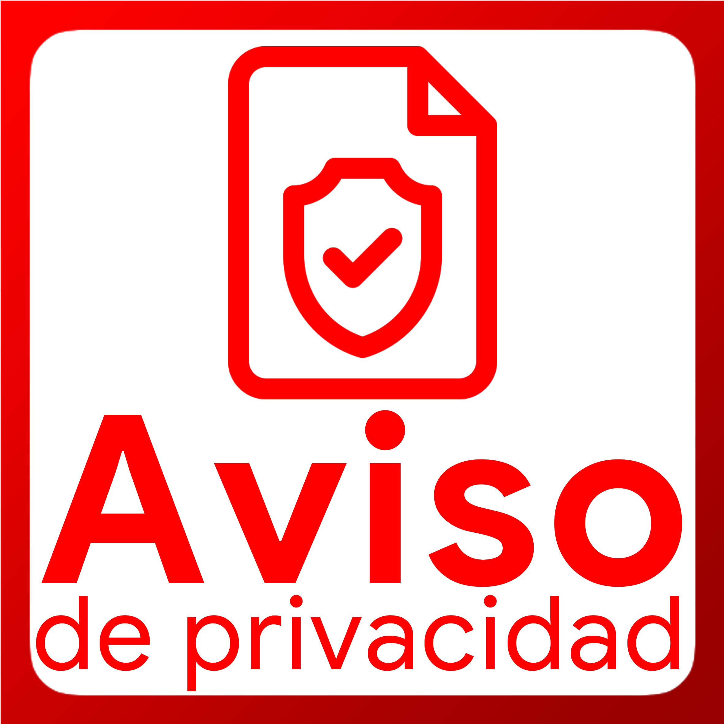 Boton activable de Aviso de Privacidad