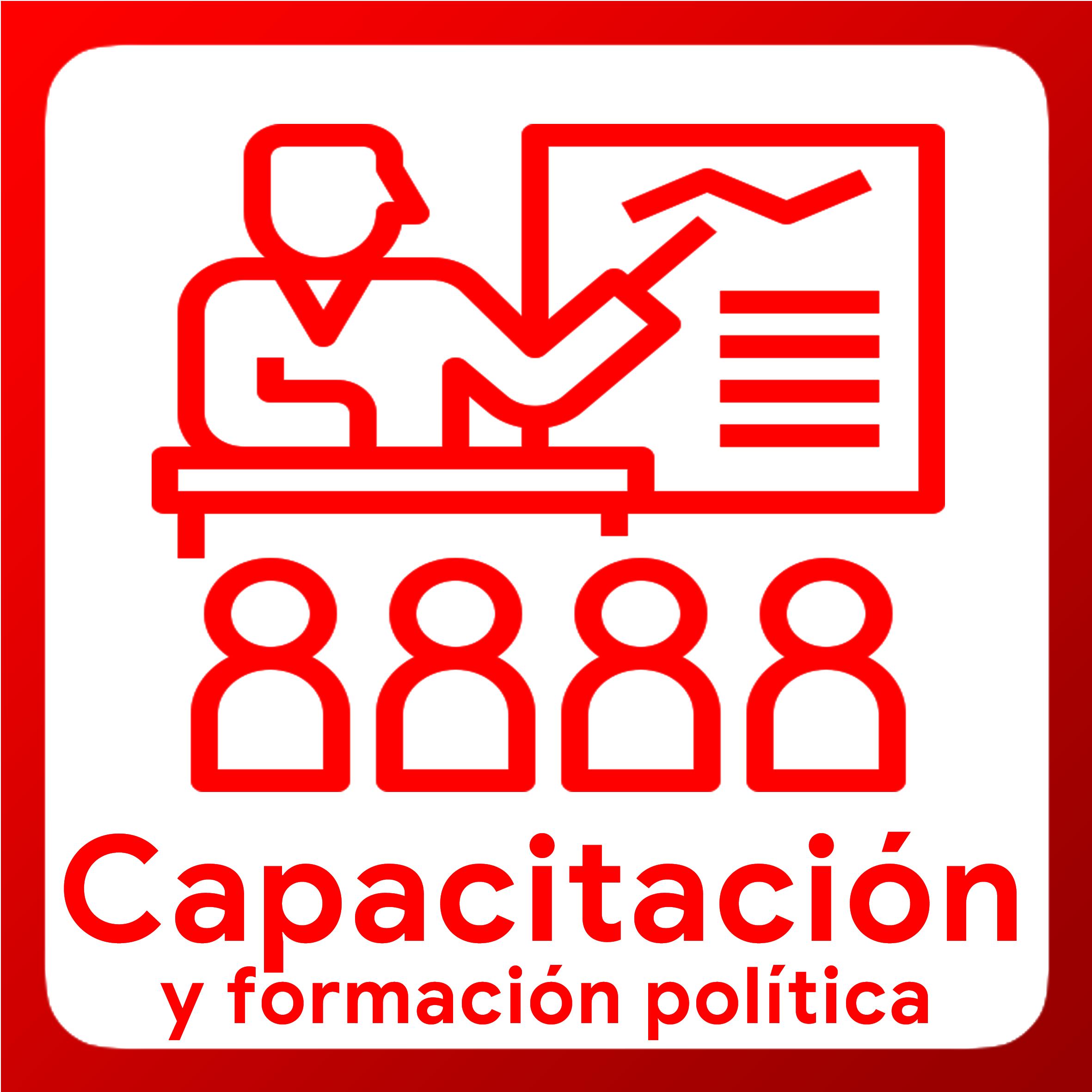 Boton activable de Capacitacion y Formación Política