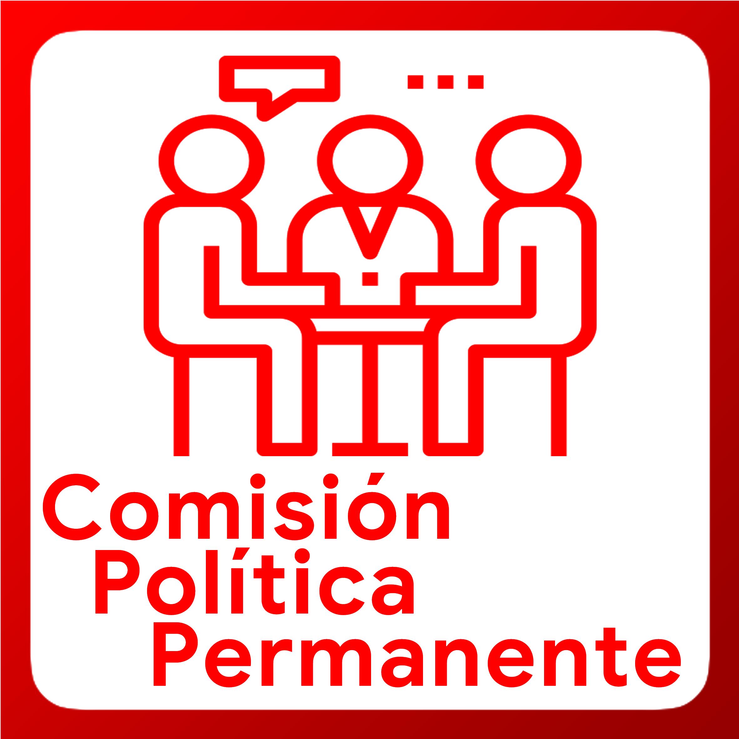 Boton activable de Comisión Política Permanente