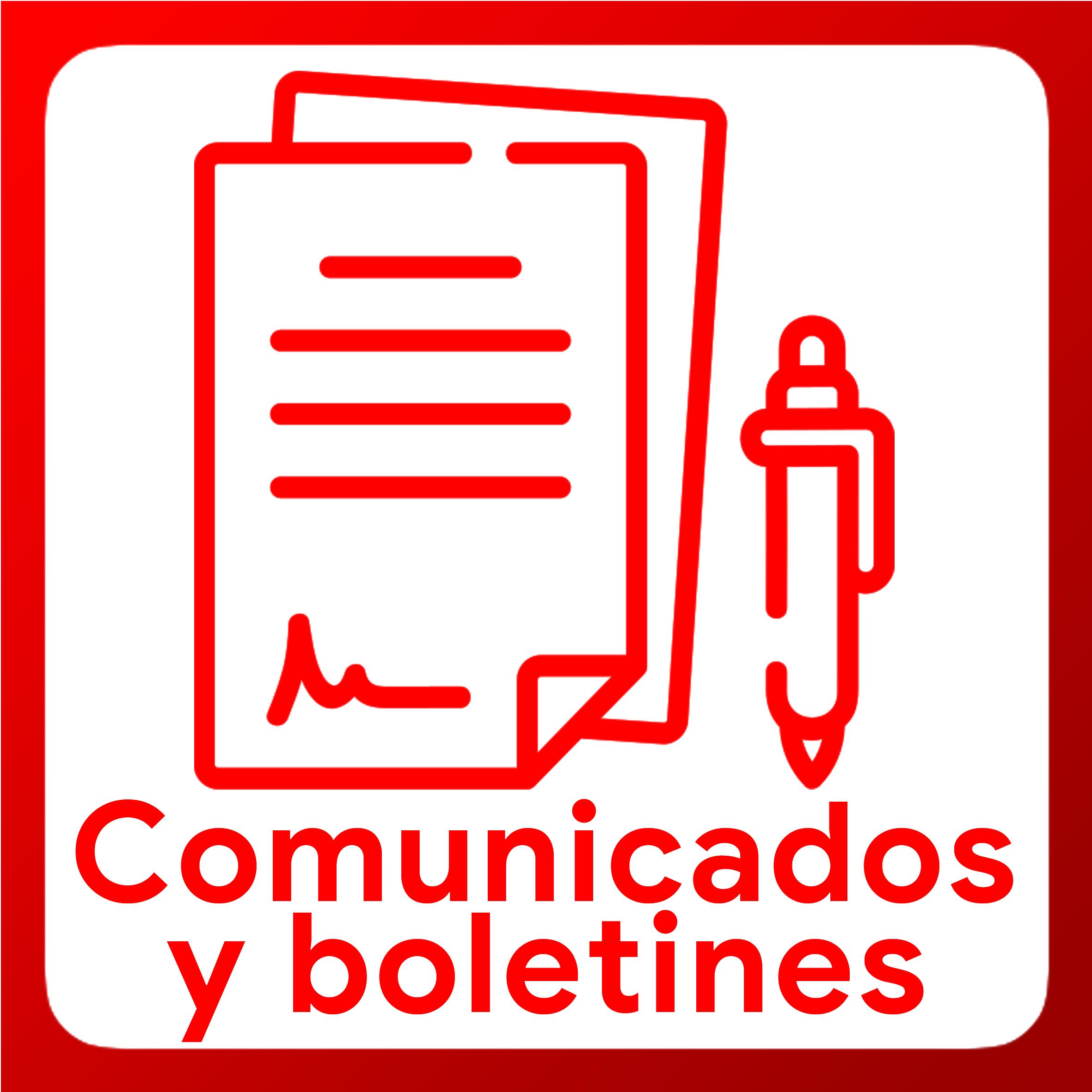 Boton activable de Comunicados y boletines