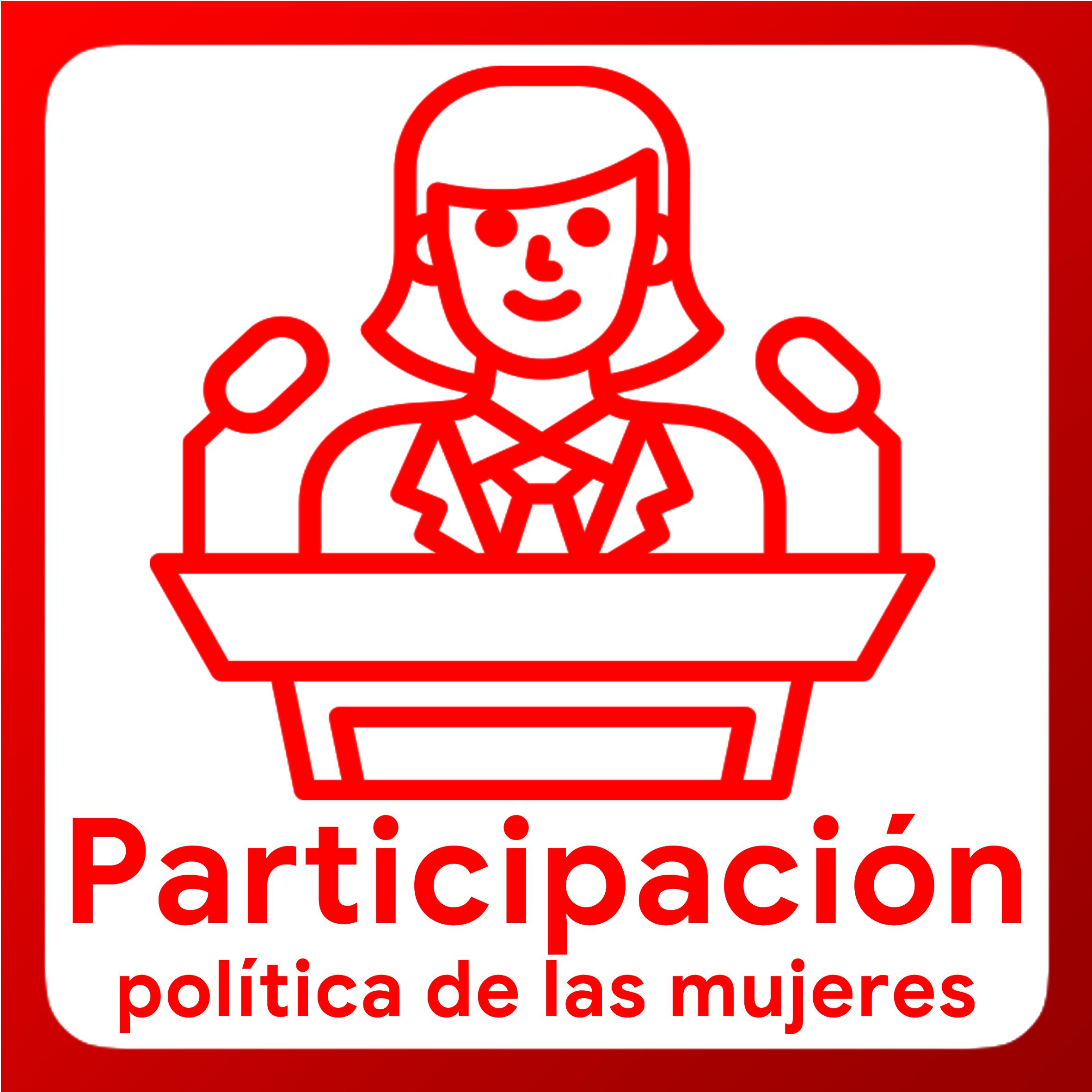 Boton activable de Liderazgo Político de las Mujeres
