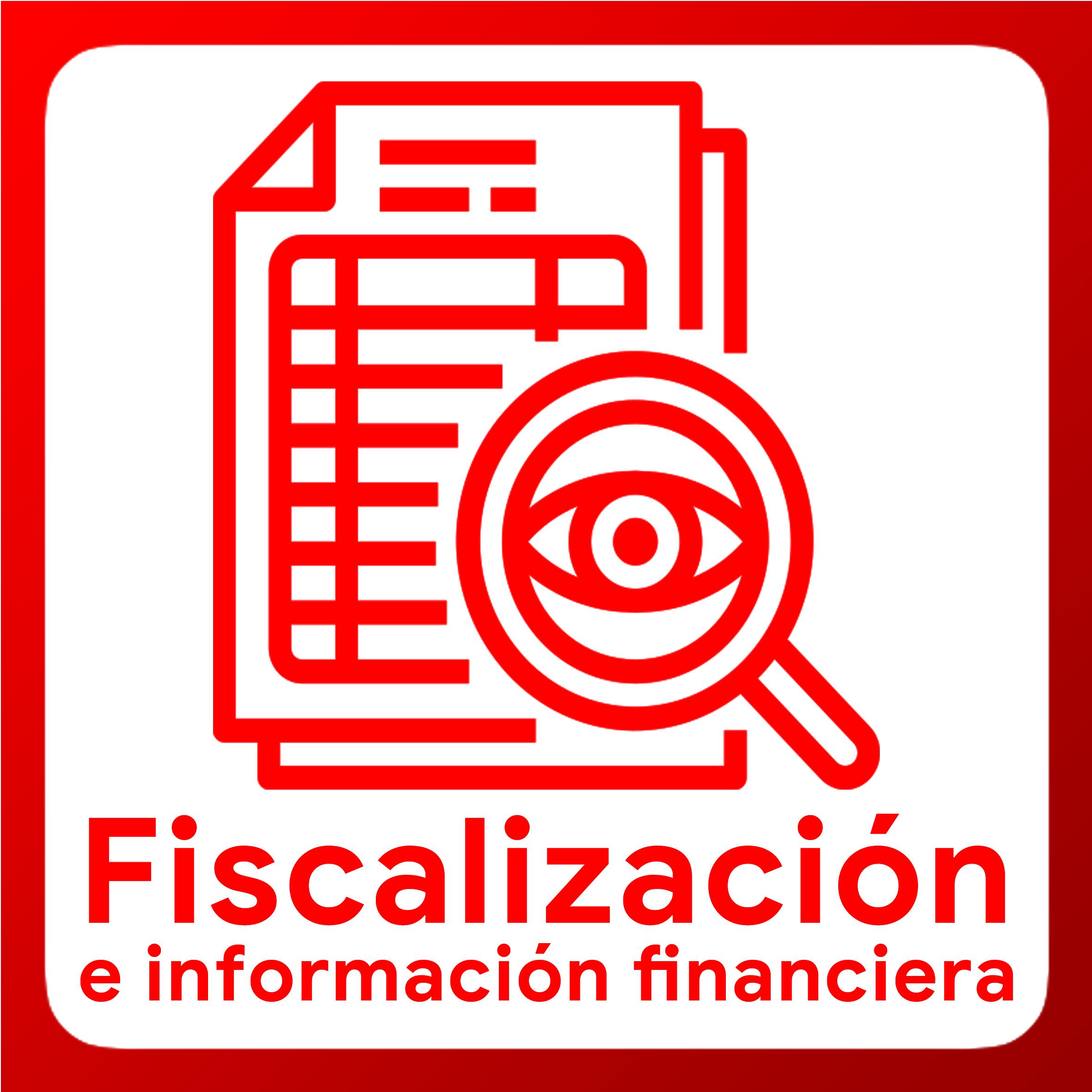 Boton activable Fiscalización e informacion financiera
