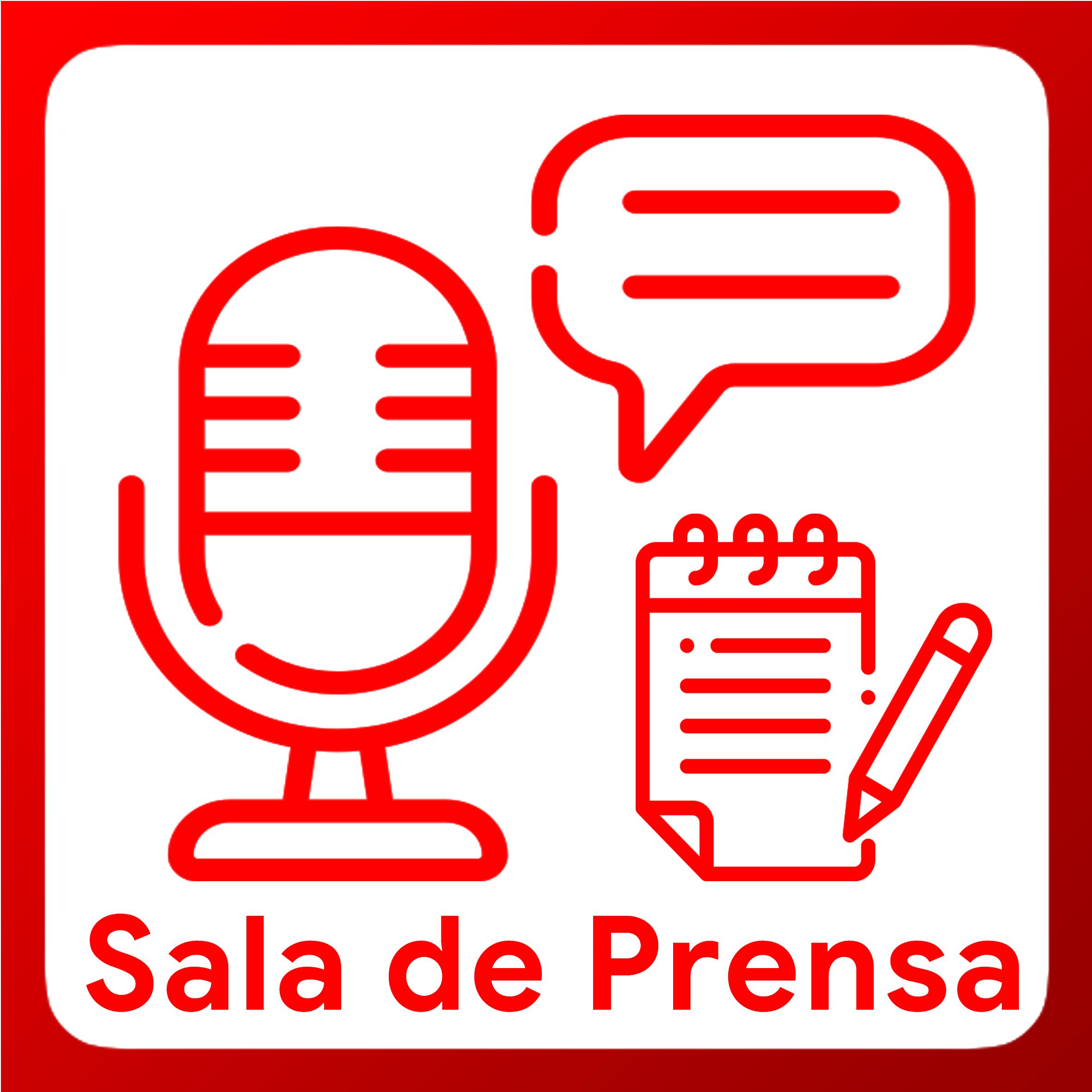 Boton activable de Sala de Prensa